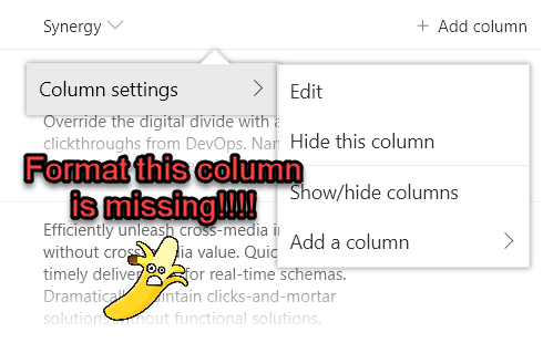Applying Column Formats to Multi-line Text Fields | The